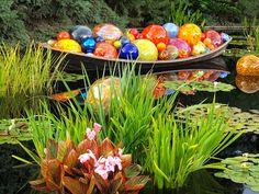 Float Boat by Dale Chihuly at Denver Botanic Gardens