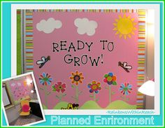 "back to school bulletin boards | Back to School Bulletin Board Welcome: ""Ready to Grow"" (from Bulletin ..."