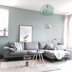Bleu turquoise et gris en 30 idées de peinture et décoration | Plan ...