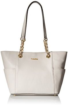 Calvin Klein Pebble Chain Tote Bag, White, One Size *** Be sure to check out this awesome product.