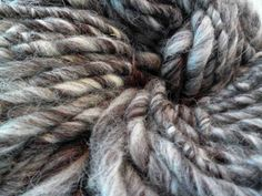 Handspun yarn super bulky yarn Jacob humbug yarn by HootersHall, £8.00