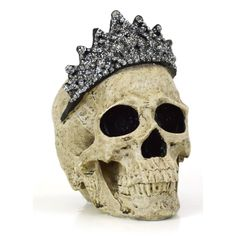 Features:  -Fabricated from poly resin.  -For indoor or covered outdoor use only.  -Comes with hand painted crown.  Holiday Theme: -Yes.  Holiday: -Halloween.  Product Type: -Sculpture.  Style: -Tradi