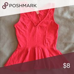 Cute pink peplum top - Small This is a cute pink top from Discovery. It was worn a handful of times with love. It still has a lot of life left in it! Tops