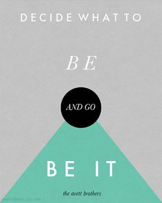 Decide What To Be 8 x 10 Print by youanchorme on Etsy