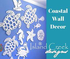 Sea Life Wall Decor for Outdoors (or Inside), Made in the USA: http://www.islandcreekdesigns.com/coastal-wall-decor
