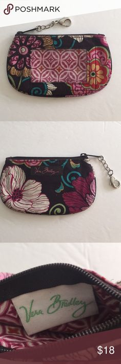 Retired Mod Floral PinkVera Bradley Retired Vera Bradley Mod Floral Pink, ID/Coin Purse. Zip closure, ID window. EUC.Approximately 3 1/2 inches high by 5 1/2 inches wide. Vera Bradley Bags Wallets