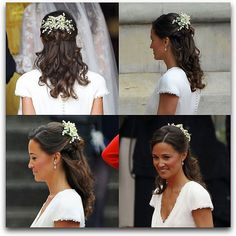 Lily of the valley Pippa at her sister's wedding...love her dress too.