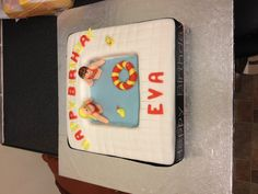 Cake made by me for my daughter's pool party