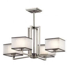 Kichler - 43438NI - Kailey Brushed Nickel 25 Inch 4 Light Chandelier Lamps.com