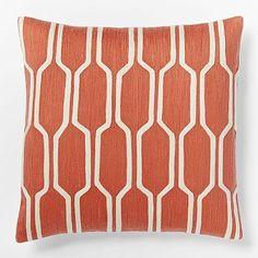 Honeycomb Crewel Pillow Cover - Bergamot #westelm