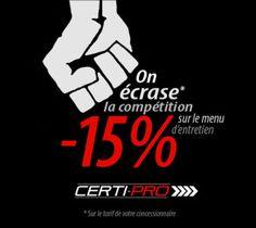 Nous faisons les entretiens du manufacturier mais 15% moins chers que votre concessionnaire à vous!!