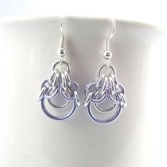 Demeter Chainmaille Earrings by dancingleafstudios on Etsy Wire Wrapped Jewelry, Wire Jewelry, Jewelry Crafts, Beaded Jewelry, Jewellery, Custom Jewelry, Handmade Jewelry, Jump Ring Jewelry, Jewelry Accessories