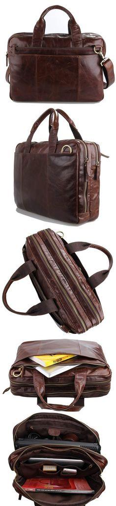 """Vintage Leather Messenger Bag / Briefcase / 13"""" 15"""" MacBook 13"""" 14"""" Laptop Bag"""