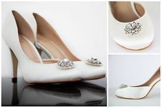 Vintage bridal shoes #wedding bridesmaid party evening size #satin broach #adelie,  View more on the LINK: http://www.zeppy.io/product/gb/2/272014123288/