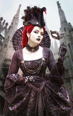 A Gothic masquerade ball