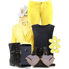 yellow all the way by stasimicich on Polyvore featuring polyvore fashion style Raquel Allegra Moschino Rachael Ruddick Marc by Marc Jacobs Wildfox Marc Jacobs