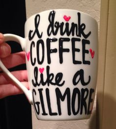 A personal favorite from my Etsy shop https://www.etsy.com/listing/252737341/i-drink-coffee-like-a-gilmore-obsessed