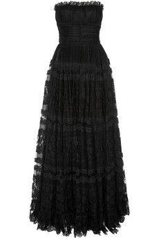 Dolce & Gabbana Lace and point d'esprit gown   NET-A-PORTER