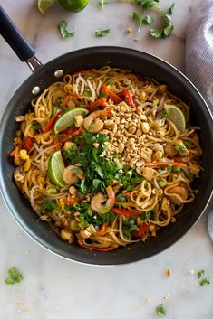Tasty and easy pad thai recipe. Our modification preferences: halve the fish sauce, thicken sauce with cornstarch, triple bean sprouts, double protein, add approx cup grated or julienned carrot on top. thai recipe Easy and quick pad thai Easy Thai Recipes, Asian Recipes, Dinner Recipes, Healthy Recipes, Ethnic Recipes, Fast Recipes, Dip Recipes, Vegetarian Recipes, Gourmet