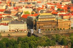 https://flic.kr/p/72aEss | Prague - The National Theatre | A tilt-shift photo of The National Theatre in Prague