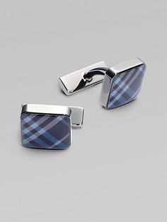 Burberry Enamel Check Square Cuff Links