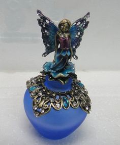 Welforth Blue Bejeweled Fairy Perfume Bottle Model No. PB-1167 ** Continue to the product at the image link. This is an affiliate link.