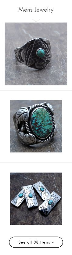 """Mens Jewelry"" by child-of-wild ❤ liked on Polyvore featuring jewelry, rings, silver, handcrafted jewelry, vintage american indian jewelry, native american jewelry, vintage jewelry, handcrafted rings, men's fashion and men's jewelry"