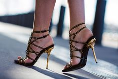 sergio rossi studded sandals.