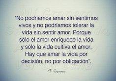 〽️ Hay que amar la vida por decisión, no por obligación