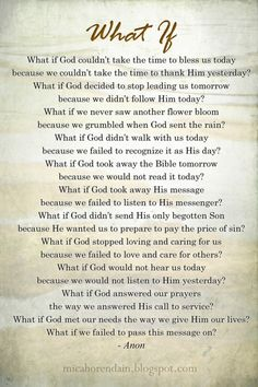 What if God.