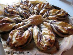 Comparte Recetas - Estrella de Hojaldre y Nutella