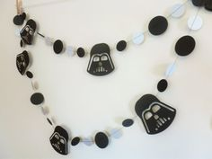 Darth Vader Party Garland  Star Wars Party Decor by SassyPantsNebraska on Etsy