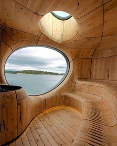 Wow! A piece of Art! Grotto #Sauna designed by Partisans.