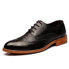 Ceyue Mens Retro Carved Brogue shoes