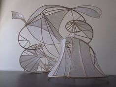 Reed and tissue paper sculpture by Ian Coxen