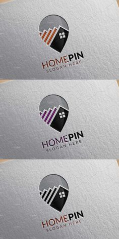 Home Pin Logo, Real estate logo Template AI, EPS