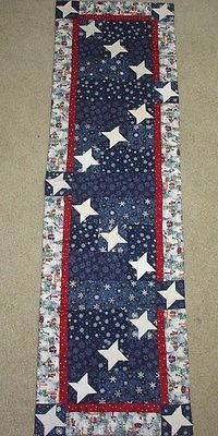 STARRY-SNOWY-NIGHT-STARS-TABLE-RUNNER-QUILT-PATTERN-JANUARY-YEAR-ONE-WINTER