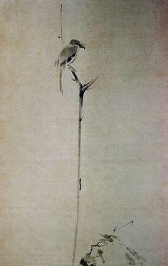 Detail of Shrike by Miyamoto Niten