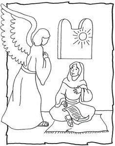 Online Christmas Coloring Book Printables Angel Embroidery and