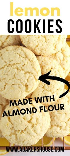 Lemon Cookies are a gluten free lemon cookie recipe made with almond flour with an optional lemon glaze on top. Make milk and cookies a special occasion. #sponsored #glutenfreecookies #lemoncookies #glutenfreerecipe #lemon #meyerlemon #lemonglaze #almondflourcookie #abakershouse Almond Flour Cookies, Lemon Cookies, Gluten Free Cookies, Gluten Free Baking, Candy Recipes, Cookie Recipes, Best Christmas Cookie Recipe, Roll Cookies, Delicious Cookies