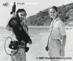 Hugo van Lawick and Jane Goodall during filming for The Baboons Of Gombe
