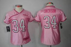 Womens Nike NFL Oakland Raiders  34 Bo Jackson Pink Love Elite Jerseys 49b8c7844