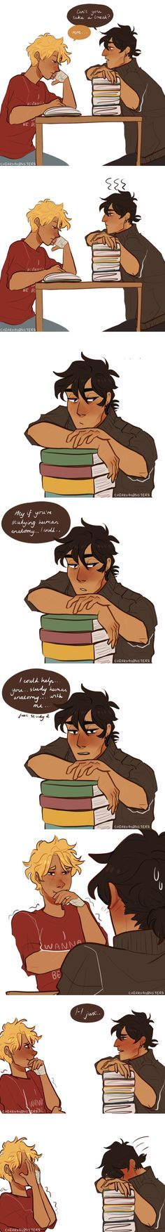 Well, now we know Nico di Angelo ISNT a real smooth talker.....