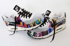 Andy Warhol Marilyn Monroe Pop Art Sneakers By Nike    ---  from InventorSpot.com --- for the coolest new products and wackiest inventions.