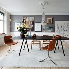 hay trestles and arne jacobsen chairs