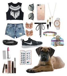 """""""Summer looks?"""" by graciebeth2003-1 on Polyvore featuring WithChic, Ray-Ban, Casetify, Monsoon, EF Collection, Joomi Lim, Rotary, BillyTheTree, Alexis Bittar and Laura Mercier"""