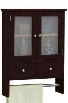 Amanda Wall Cabinet with Towel Bar - Wall Cabinets - Bathroom Cabinets - Bath | HomeDecorators.com