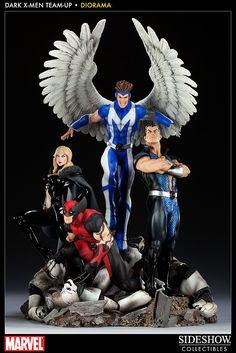 Sideshow Dark X-men Team up Diorama Marvel Comics
