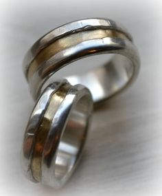 his and hers wedding bands  artisan designed by MaggiDesigns, $1890.00
