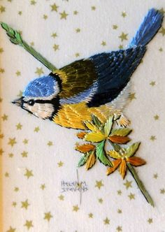 Examples of Helen Stevens's embroidery